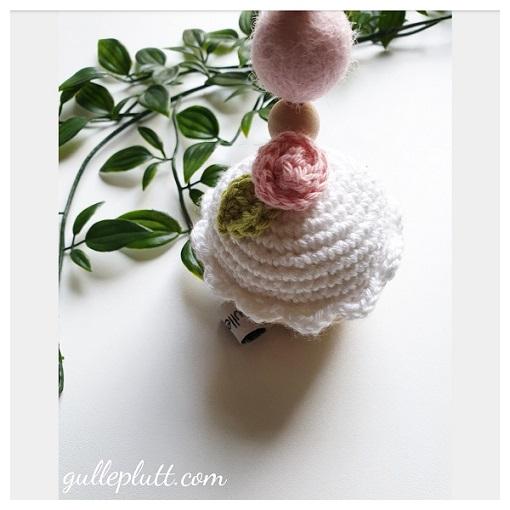Barnvagnshänge, Virkad Cupcake