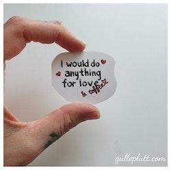 Klistermärke, love & coffee