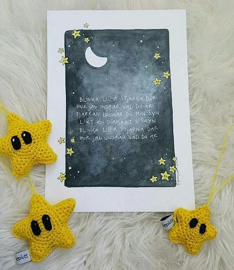 Doptavla: Blinka Lilla Stjärna