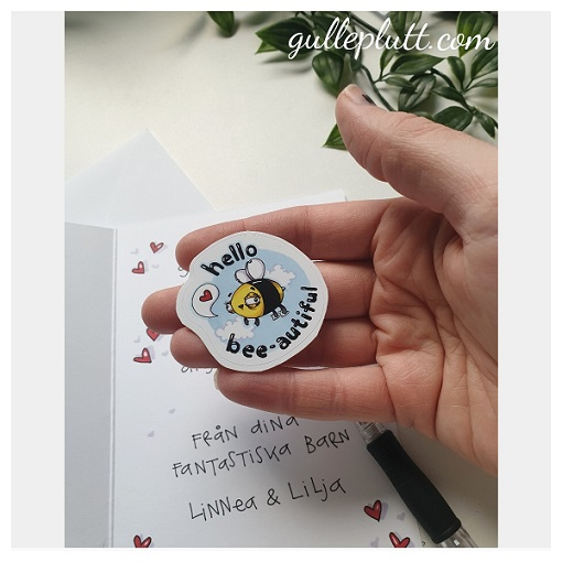 Klistermärke, Bee-autiful