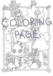 Utskrift för färgläggning, Gullepluttskogen