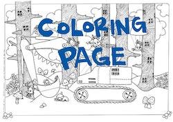 Utskrift för färgläggning, Grävmaskinen