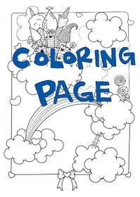 Utskrift för färgläggning, Magiskt Luftslott