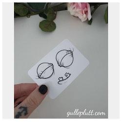 DIY Gulleprutta, 3-pack transparenta klistermärken