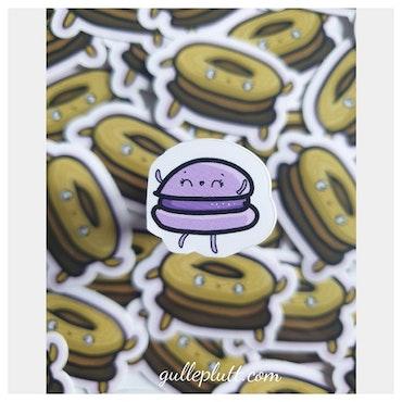 Klistermärke Mini, Lila Macaron