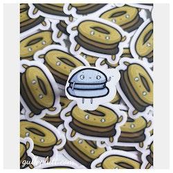 Klistermärken, Macarons 4-pack (En av varje färg)