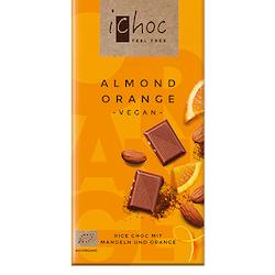 iChoc Mjölkfri Choklad, Almond Orange 80g