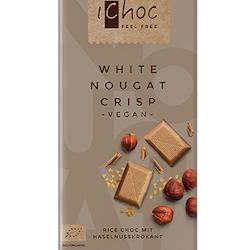 iChoc Mjölkfri Choklad, White Nougat Crisp, Eko