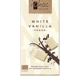 iChoc mjölkfri choklad White Vanilla 80g, EKO