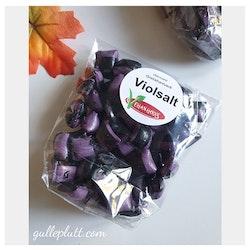 Hårda karameller, Violsalt, Veganskt godis