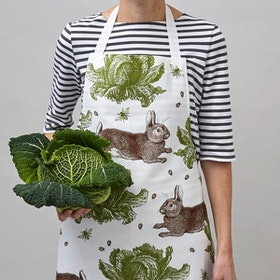 Thornback & Peel Apron  rabbit & cabbage