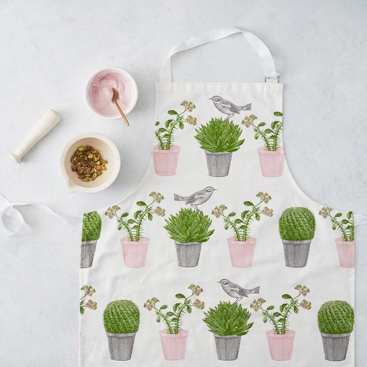 Apron / Förkläde Cactus & bird