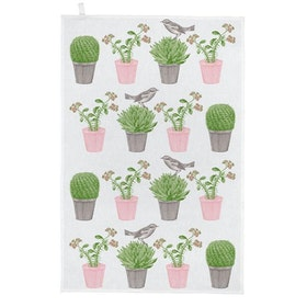 Thornback & Peel Tea towel  Cactus & bird