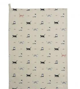 Cat Tea Towel / Katt Kökshandduk