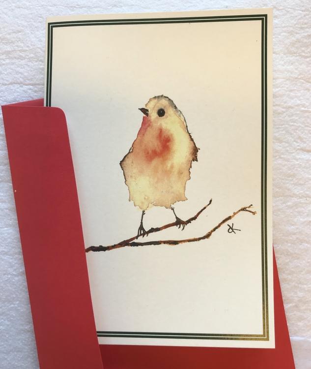 Robin Card / Rödhake Kort