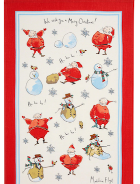 Christmas Santa tea towel /Jul Tomte kökshandduk
