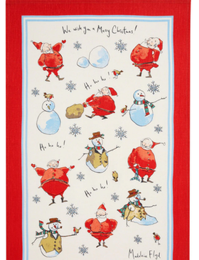 Christmas Santa tea towel /Jul Tomte kökshandduk