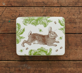 Thornback & Peel Rabbit & Cabbage rectangle Tin