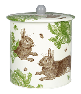 Rabbit & Cabbage Biscuit Tin / Rabbit & Cabbage Kexburk