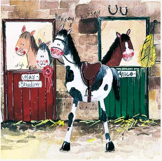 Alice,Stables Card  / Alice,s Stall kort