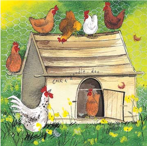 Chicken Coop Card  / Höns Huset kort