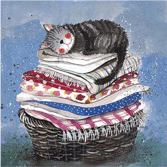 Laundry Basket Card / Tvättkorgen kort