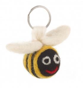 Felt Bee Keyring / Tovat Bin Nyckelring