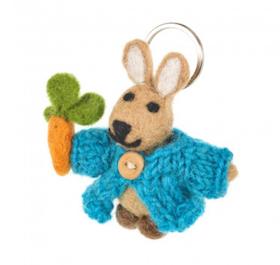 Felt Rabbit Keyring / Tovat Rabbit Nyckelring