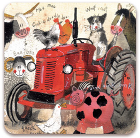 Fridge Magnet Big Red Tractor / Kylskåpsmagnet Big Red Tractor
