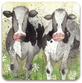 """Alex Clark Kylskåpsmagnet """"Curious Cows"""""""