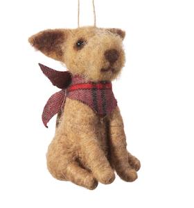 Dog with bandana Christmas tree decoration / Hund med halsdukJulgrans pynt