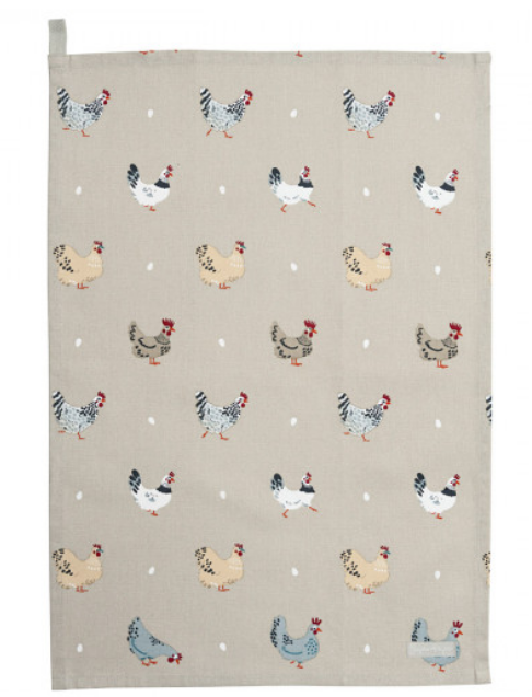Sophie Allport Lay a Little egg Tea Towel