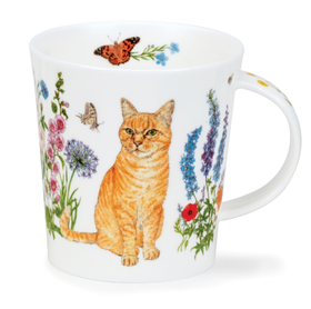 """Dunoon Blommig Röd Katt mugg  """" Floral Cats"""""""