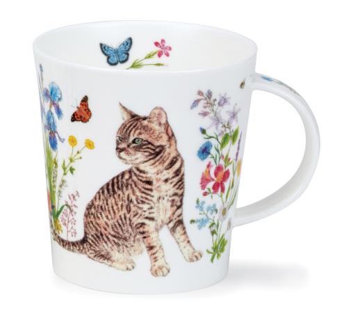 """Dunoon Blommig Grå Katt mugg  """" Floral Cats"""""""