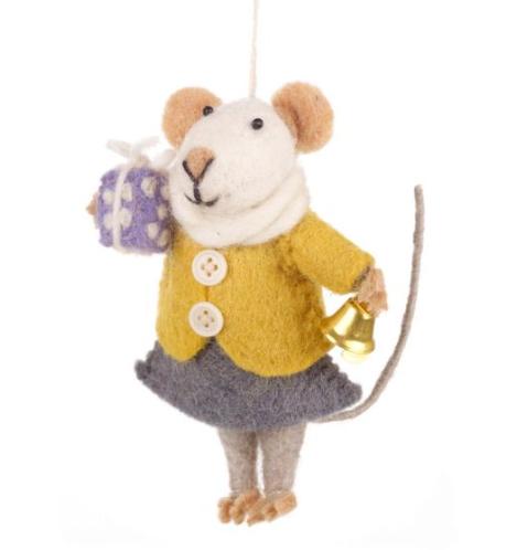 "Felt so Good Häng Prydnad "" Agnes Mouse"""