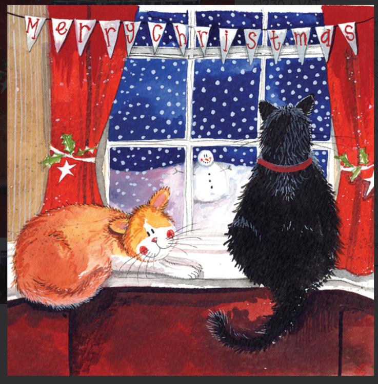 """5 pack Alex Clark Julkort """" Christmas Window """""""