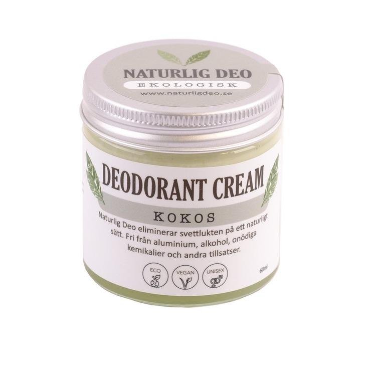 Naturlig Deo- Ekologisk deodorant cream Kokos 60ml