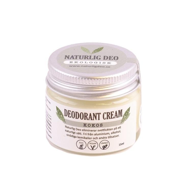 Naturlig Deo- Ekologisk deodorant cream Kokos 15ml