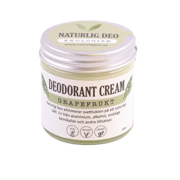 Naturlig Deo- Ekologisk deodorant cream Grapefrukt 60ml