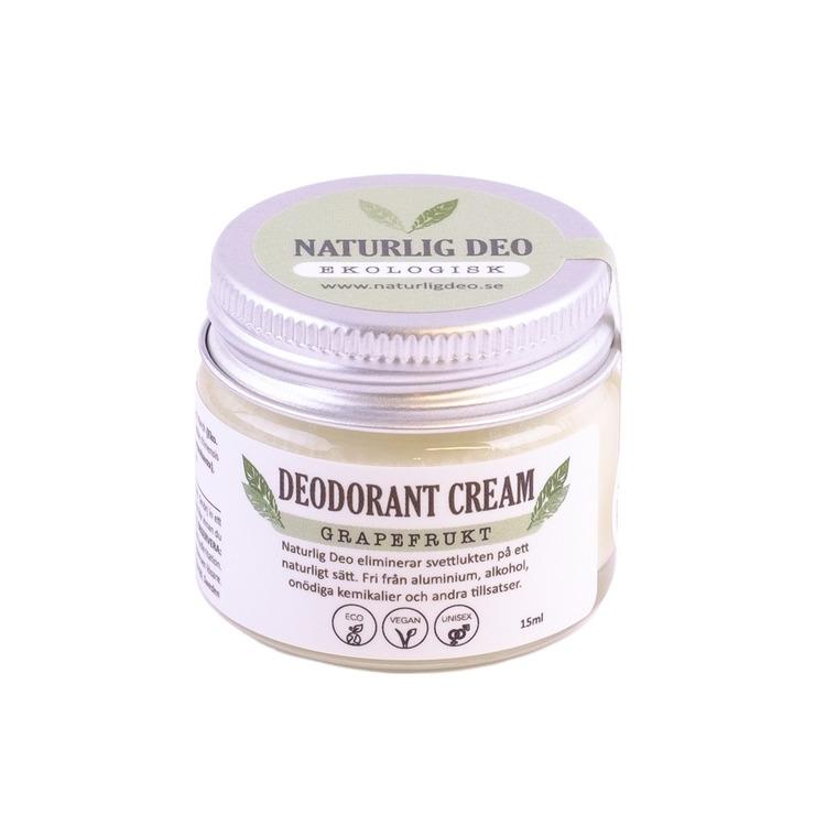 Naturlig Deo- Ekologisk deodorant cream Grapefrukt 15ml