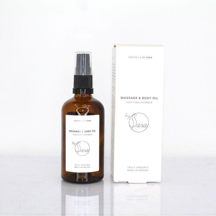 Organics by Sara - Massage & Body Oil 100ml (flera varianter)