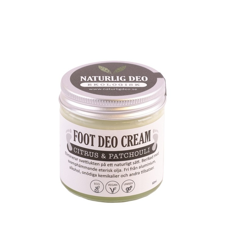 Naturlig Deo - Ekologisk FOOT DEO Cream Citrus & Patchouli 60ml