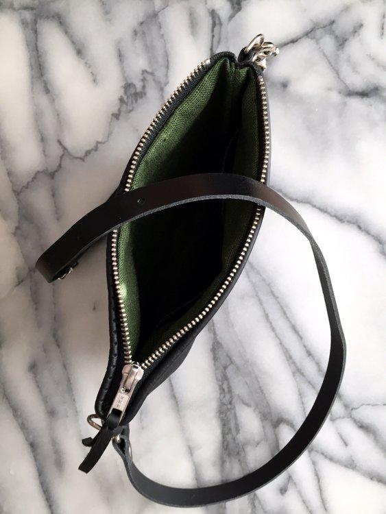 VIP Shoulder Bag - Black Perforated & Black