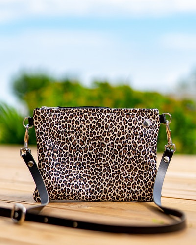 VIP Shoulder Bag - Limited Edition Leopard & Silver