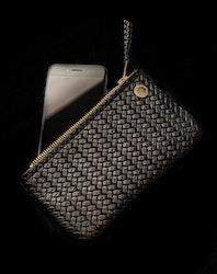 VIP iPhone Wallet - Herringbone Leather