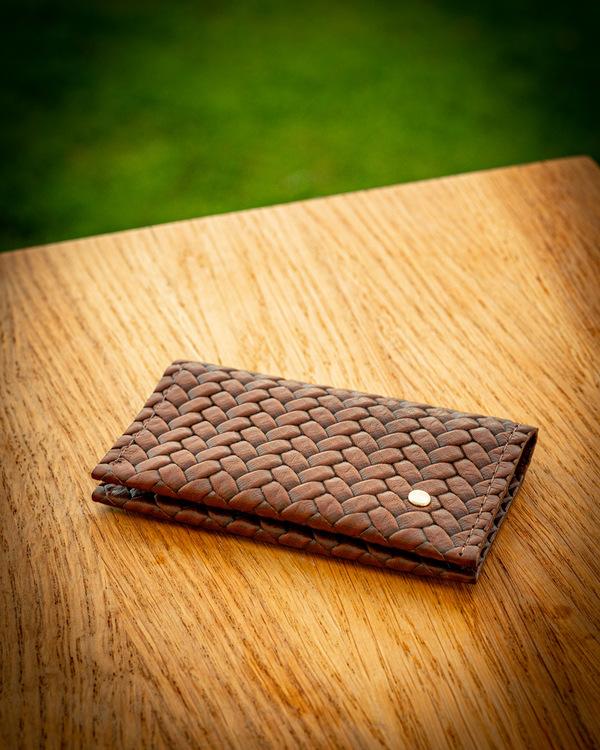 Double Card Holder Herringbone - Dubbel korthållare