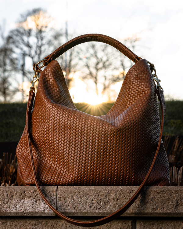 Original Leather Bag - Herringbone