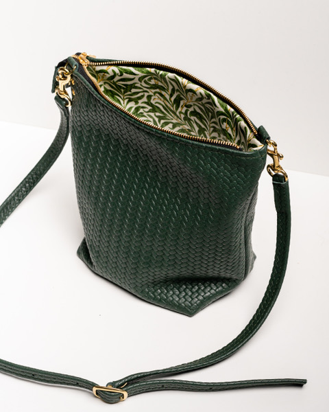 Large Shoulder Bag - Herringbone