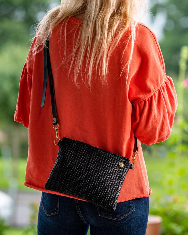 VIP Shoulder Bag - Herringbone Leather