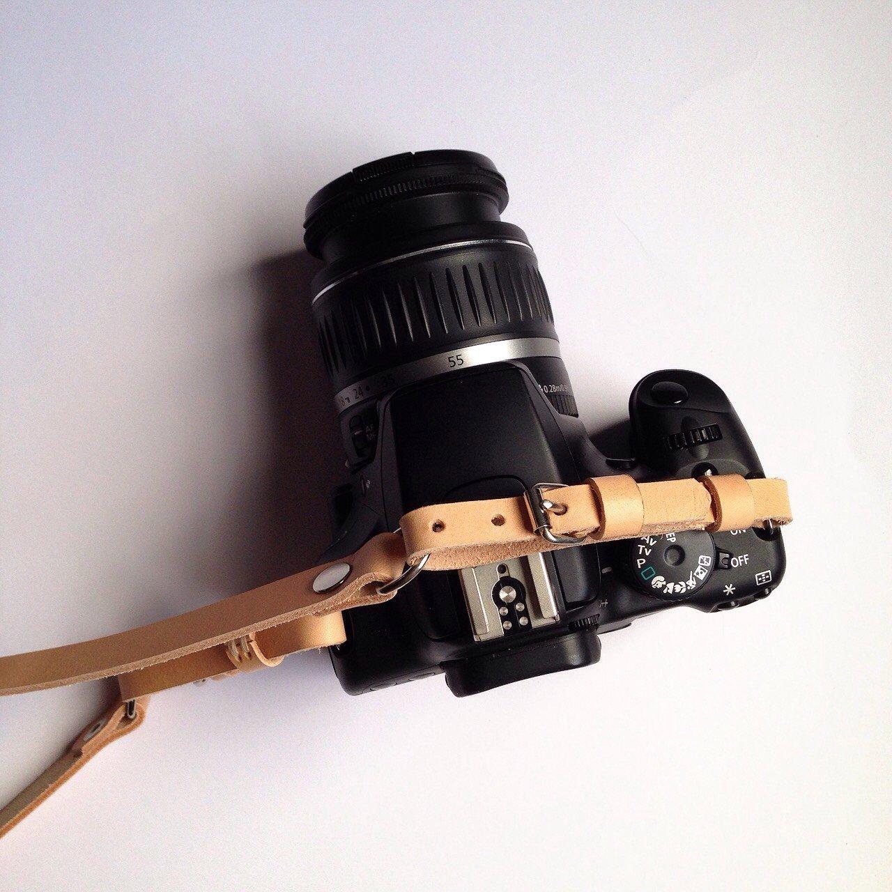 Camera Strap Tan - Kamerarem i läder